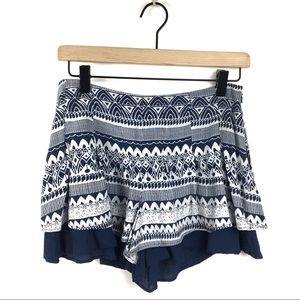 Free People Tribal Tiered  Shorts Size 0